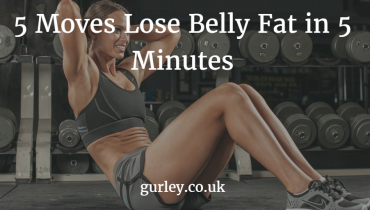 5 Moves Lose Belly Fat in 5 Minutes pin